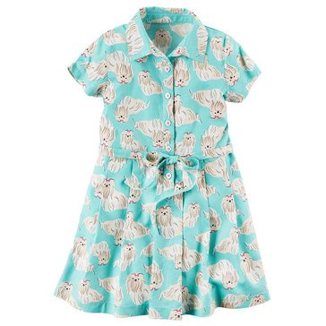 Carter's Toddler Girls' Woven Dog Shirt Dress