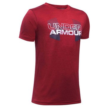 Under Armour Big Boys' Big Logo Hybrid Tee, Stealth Grey