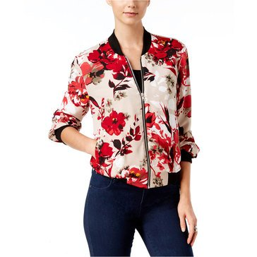 INC International Concepts Printed Bomber in Spring Breeze