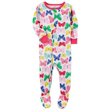 Carter's Toddler Girls' Cotton Butterfly Print Pajamas
