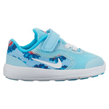 Nike Revolution 3 Print Girls' Running Shoe Still Blue/ White