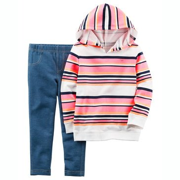 Carter's Toddler Girls' 2-Piece Hoodie Legging Set
