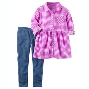 Carter's Toddler Girls' 2-Piece Woven Tunic Legging Set