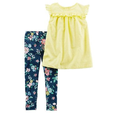 Carter's Toddler Girls' 2-Piece Swiss Dot Legging Set