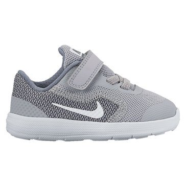 Nike Revolution 3 Boys' Running Shoe Wolf Grey/ White