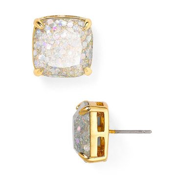 Kate Spade Gold Tone Small Square Opal Glitter Studs