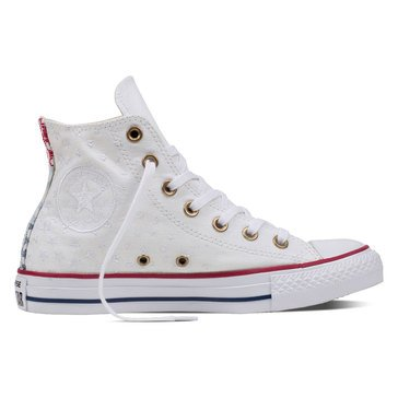 Converse Chuck Taylor All Star Hi Women's High Top Sneaker White/Casino Red/Insignia Blue