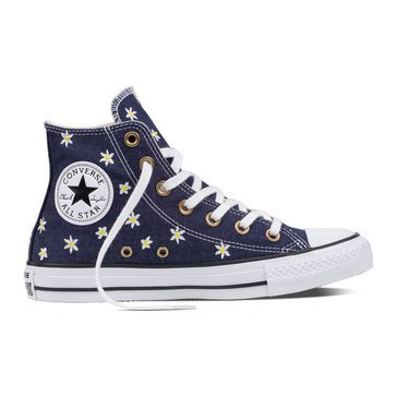 Converse Chuck Taylor All Star Hi Women's High Top Sneaker Navy/Fresh Yellow/White