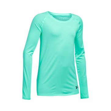Under Armour Big Girls' Solid Top, Crystal