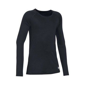 Under Armour Big Girls' Solid Top, Black
