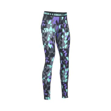 Under Armour Big Girl's Print Leggings, Stealth Grey