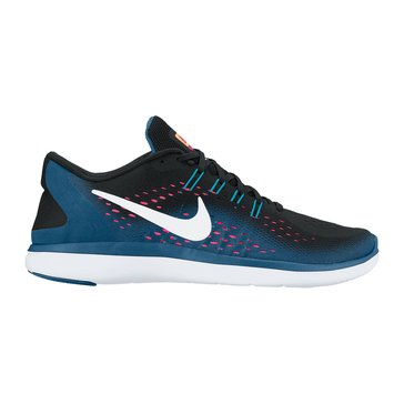 Nike Flex 2017 RN Women's Running Shoe Black/ White/ Industrial Blue/ Racer Pink
