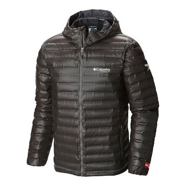COLUMBIA OUTDRY EX GOLD DOWN BLK HOOD JKT