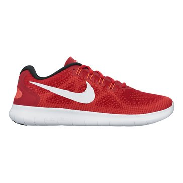 Nike Free RN 2 Men's Running Shoe Game Red/ Off White/ Track Red