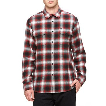 Obey Men's Dobbs Long Sleeve Plaid Woven Shirt