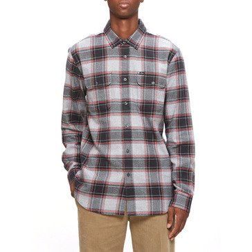 Obey Men's Wilcox Long Sleeve Plaid Woven Shirt