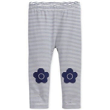 First Impressions Baby Girls' Flower Knee Patch Leggings