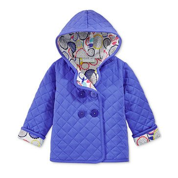 First Impressions Baby Girls' Blue Quilted Hoodie