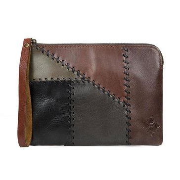 Patricia Nash Cassini Wristlet Patchwork Chocolate