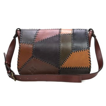 Patricia Nash Square Saddle Bag Patchwork Chocolate