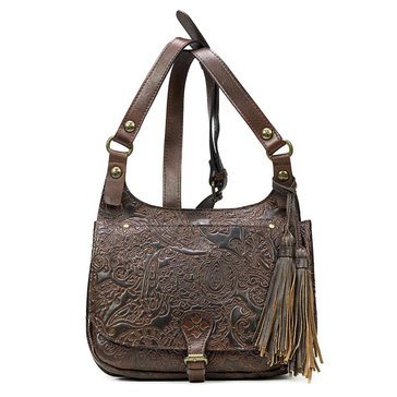 Patricia Nash Lodon Saddle Bag Dark Brown