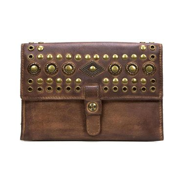 Patricia Nash Colli Wallet Burnished Hobo Studded Tan