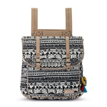Sakroots Convertible Backpack Black & White One World