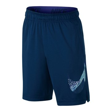 Nike Big Boys' Dry GFX Shorts, Binary Blue