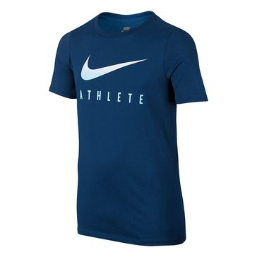 Nike Big Boys' Swoosh Athlete Tee, Binary Blue