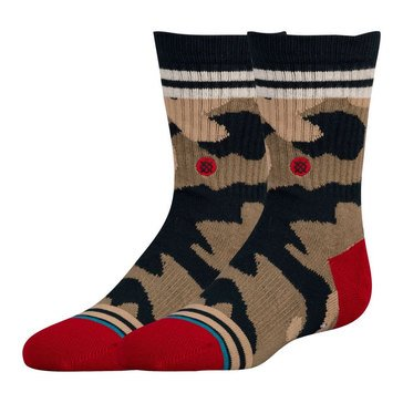 Stance Little Boys' Parkway Crew Socks, Size 2.5-5
