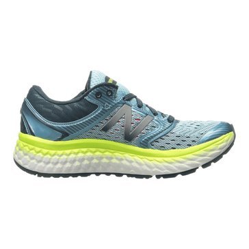 New Balance W1080BY7 Women's Running Shoe Ozone Blue/ Glo/ Lime Glo