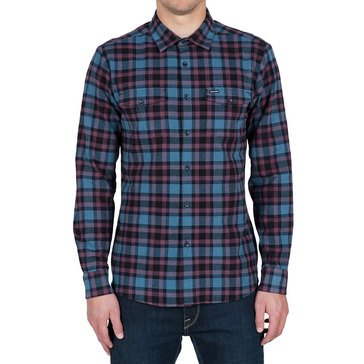 Volcom Men's Martens Long Sleeve Heavy Flannel Plaid Shirt