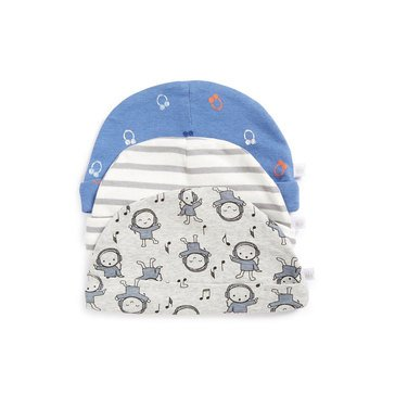 Rosie Pope Baby Boys' 3-Pack Cap Set