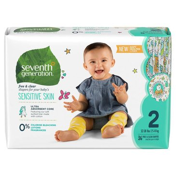 Seventh Generation Jumbo Diapers - Size 2, 36-Count