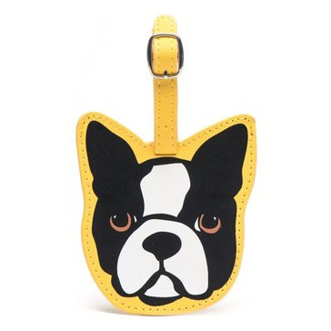 Marc Tetro Saffiano Luggage Tag Boston Terrier