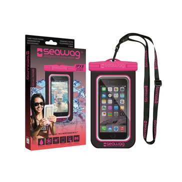 Seawag Waterproof Case for Smartphone-Black/Pink
