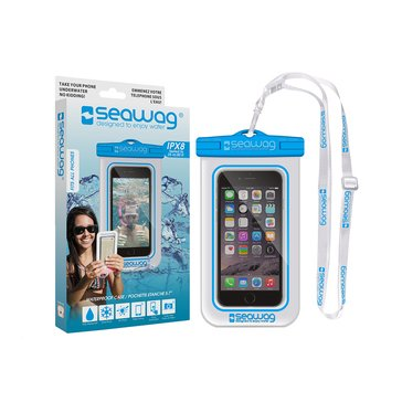 Seawag Waterproof Case for Smartphone-White/Blue