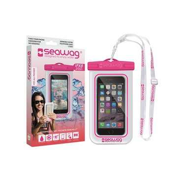 Seawag Waterproof Case for Smartphone-White/Pink