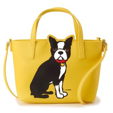 Marc Tetro Saffiano Mini Cut Out Crossbody Boston Terrier