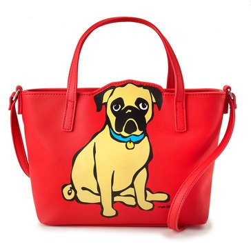 Marc Tetro Saffiano Mini Cutout Crossbody Pug