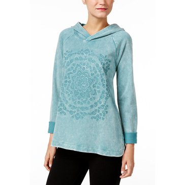 Style & Co Lunar Dye Pullover in Green Nectar