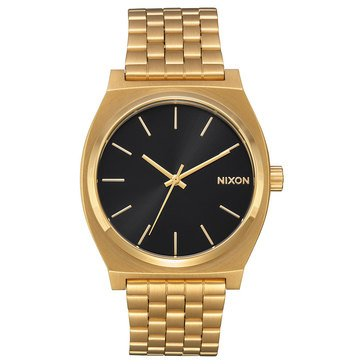 Nixon Unisex Time Teller Watch A045-2042, Black Sunray/ Gold 37mm