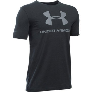 Under Armour Big Boys' Sportstyle Logo Tee, Black