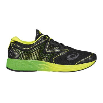 Asics Noosa FF Men's Running Shoe Black/ Green Gecko/ Safety Yellow