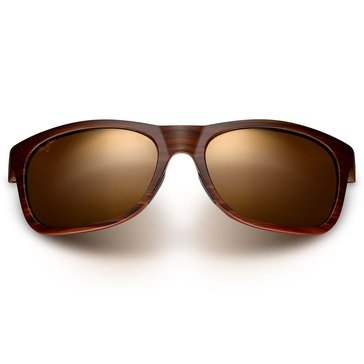 Maui Jim Unisex Kahi Sunglasses Matte Brown Wood Grain 7.5mm