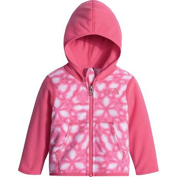 The North Face Baby Girls' Glacier Full Zip Hoodie, Pink Print