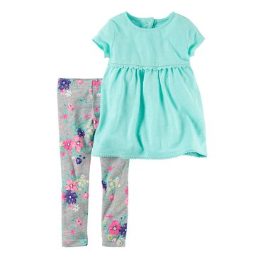 Carter's Toddler Girls' 2-Piece Knit Legging Set, Mint
