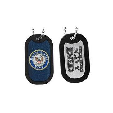 Sparta Proud Navy Dad Dog Tag