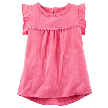 Carter's Toddler Girls' Solid Slub Top, Pink
