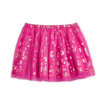 Epic Threads Little Girls' Foil Heart Tulle Skirt